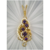 AMETHYST PENDANT WITH PEARLS