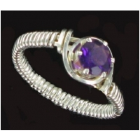 AMETHYST GEMSTONE RING IN SILVER