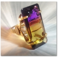 AMETRINE GEMSTONE RING