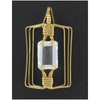 White Topaz Rectangular Pendant