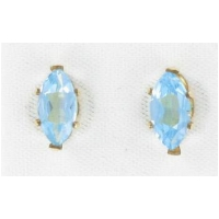 Marquise Blue Topaz Stud Earrings