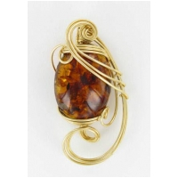 Large Oval Amber Pendant