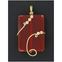 Carnelian Pendant in 14kt rolled gold handcrafted setting