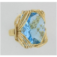 Swiss Blue Topaz Rectangular Ring