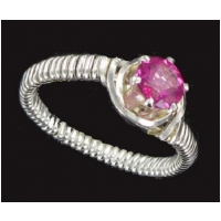 PINK MYSTIC FIRE GEMSTONE RING
