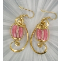 PINK DESIGNER EARRINGS