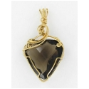 25 ct. Trilliant Smoky Quartz Pendant