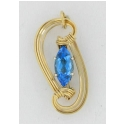 London Blue Topaz Marquis Pendant