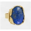 Lapis Lazuli Ring in 14kt Rold Gold Wire