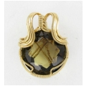 45 ct Round Facet Smoky Quartz Pendant