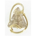 Rutilated Quartz Gemstone Wire Wrapped Gold Filled Pendant