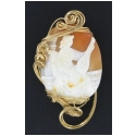 Jumbo Cameo Accented with 14kt Rolled Gold Wire