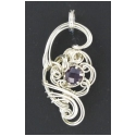 3 ct. Amethyst Gemstone Pendant in Sterling Silver
