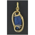 Drusy Pendant set in Gold Wire