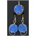 Lapis Lazuli Pendant and Earrings