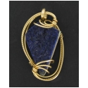 Drusy Quartz Pendant in Gold Wire