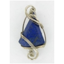 Lapis Lazuli Pendant Set in Sterling Silver Wire Wrap