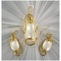 HANDCRAFTED MABE PEARL SET